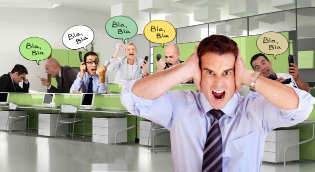 9 de cada 10 empleados sufren estrés por ruido de oficina